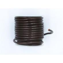Cordón cuero marrón, 4 mm,...