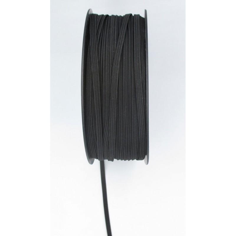 banda elástica 10 metros. Goma elástica para costura de 4 mm. color negro