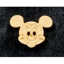 Botón Mickey, madera