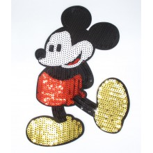 Aplique lentejuelas, Mickey...
