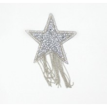 Aplique estrella con strass...