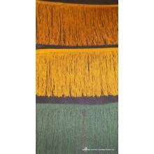 Flecos cuquillo ocre, mostaza y verde, ancho 20 cm