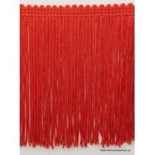 Flecos cuquillo color rojo, ancho 10cm