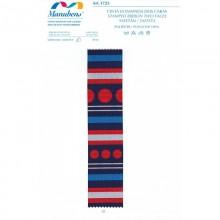 Lazo en tonos azules y rojos
