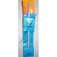 Ganchillo, marca PONY, 6 mm