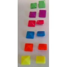 Pirámide colores flúor, 10 mm