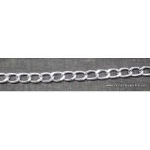 Cadena de aluminio libre de nickel, color plata brillante, 9mm,