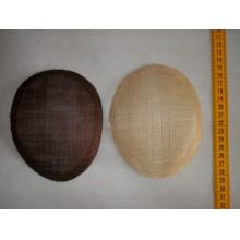 Bases para tocados, forma ovalada, 14,5 x 12 cm