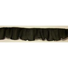 Plisado de gasa negro, 4,5 cm