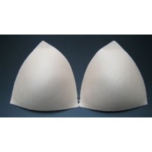 Cúpulas de sujetador efecto push-up, forma triangular, SOFTY BRA. Color carne