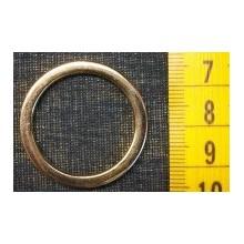 Argolla redonda dorada 31 mm