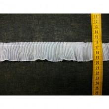 Plisado gasa blanco, 3,5 cm