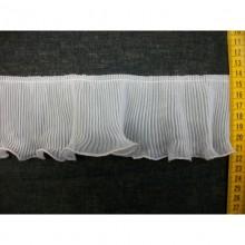 Plisado gasa crudo, 8 cm