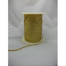 Cordón dorado elástico, 3 mm