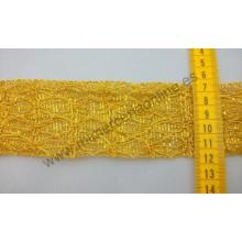 Pasamanería oro brillante, 60 mm