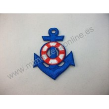 Ancla termoadhesiva azul, 6 cm