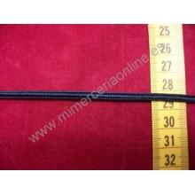 Cordón plano de 4 mm negro