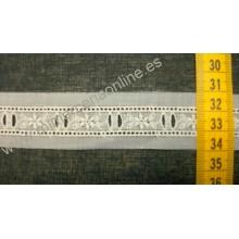 JUEGO 3 TIRABORDADA, entredós con pasacintas, 15 mm, crudo (PUNTILLA Nº 366)