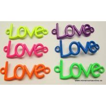 Abalorio LOVE, colores flúor