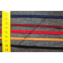 Cordón antelina 6 mm, plano