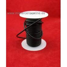 Cordón cuero negro, 2,5 mm, encerado