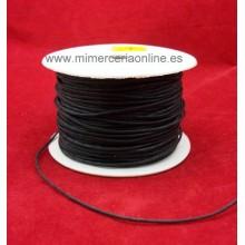 Cordón cuero negro, 1 mm, mate