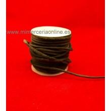 Cordón cuero negro, 2 mm,...