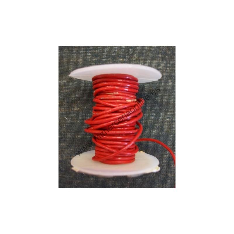 f8f7470044eb Cordón cuero rojo, 1 mm, encerado