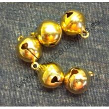Cascabel oro brillante, 12 mm