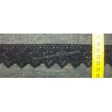Puntilla bolillo negra, 3,6 cm (puntilla número 473)