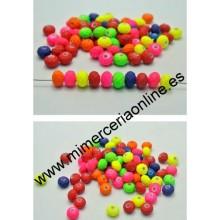 Bolas colores flúor, 6 x 8 mm