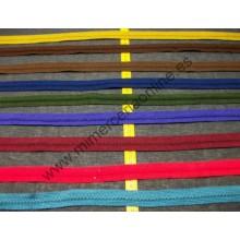 Pasamanería tipo trencilla, varios colores, 2,5 cm (cajón nº4)