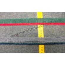 Pasamanería tipo trencilla, doble color, 2,8 cm