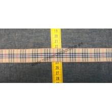 Lazo cuadros beige, 2,6 cm