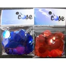 Lentejuelas COSE, rojas o azules, 1,5 cm