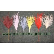 Plumas de colores, 20 cm