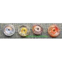 Abalorio de cristal, forma redonda, varios colores