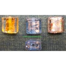 Abalorio de cristal, forma cuadrada, varios colores