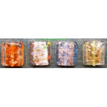 Abalorio cristal, forma cuadrada, varios colores
