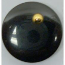 Botón, negro con bola...