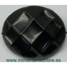 Botón negro, ovalado, 18 x...