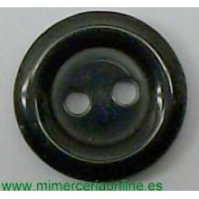 Botón negro, de 2 agujeros,...