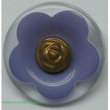 Botón flor de color malva y...