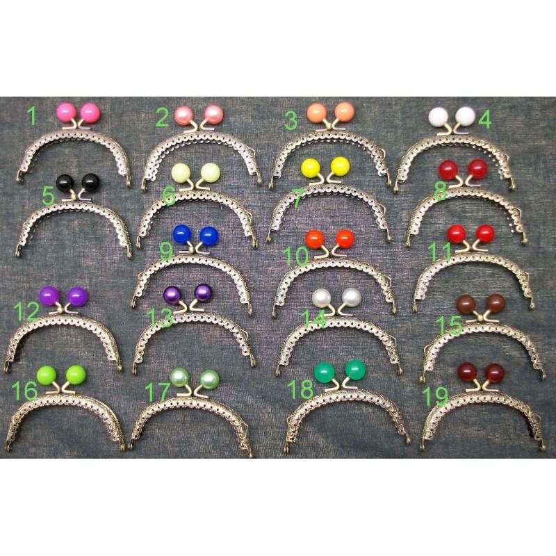 68e10bcbb Boquilla monedero, cierre de bolas tipo perla, varios colores, 8,5 cm