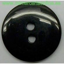 Botón negro con 2 agujeros,...