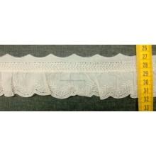 Juego 13 tirabordada crudo, puntilla fruncida, 53 mm (puntilla número 352)