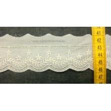 Juego 13 tirabordada crudo, puntilla 5 cm ( puntilla número 342)