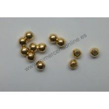 Bola lisa, color oro, 4 mm