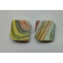 Abalorio cuadrado, multicolor