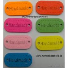 "Botón patchwork ""HANDMADE""..."